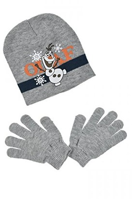 Disney Frozen Girl's Olaf Scarf Hat & Glove Set