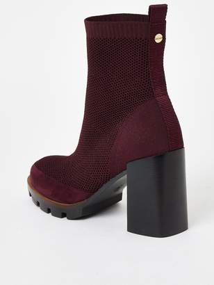 River Island Chunky Sole Chelsea Boot - Dark Red