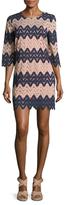 BCBGMAXAZRIA Wave Striped Shift Dress