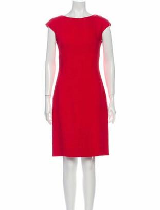 Dolce & Gabbana Bateau Neckline Knee-Length Dress Red