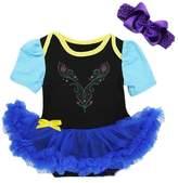 Ameda Baby Anna Princess Black Royal Blue Bodysuit Tutu Costume Medium Black