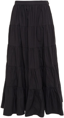Ulla Johnson Gathered Cotton-poplin Midi Skirt