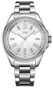 JBW Women's Capri Diamond (1/8 ct.t.w.) Stainless Steel Watch