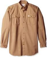 Carhartt Men's Big & Tall Oakman Work Shirt Sandstone Twill Original Fit