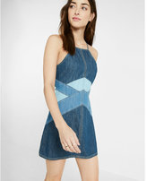 Express pieced denim dress