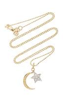 Sydney Evan Yellow Gold Moon & White Gold Star Charm