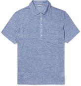 Massimo Alba Slim-Fit Striped Slub Linen Polo Shirt