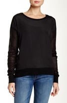 Dolce Cabo Crew Mesh Back Sleeve Sweater