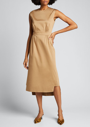 Prada Sateen Sleeveless Suit Dress