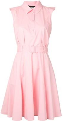 Paule Ka Sleeveless Belted Shirt Dress