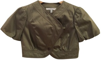 Mariella Rosati Khaki Cotton Jacket for Women