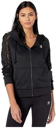 adidas Bellista Lace Zip Hoodie (Black) Women's Clothing