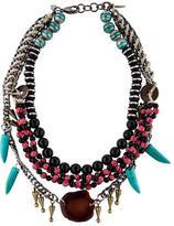 Dannijo Multistrand Bead & Crystal Necklace
