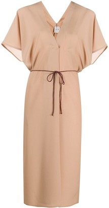 Alysi Tie-Waist Midi Dress