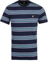 Lyle & Scott Navy Striped T-shirt