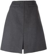 Courreges houndstooth patterned A-line skirt