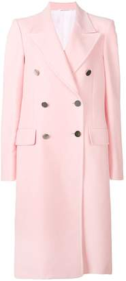 Calvin Klein double-breasted fitted coat