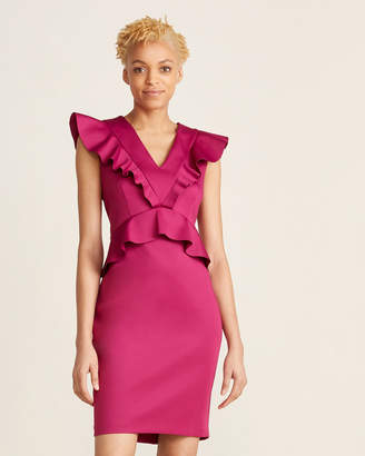 Ted Baker Ruffled Peplum Bodycon Dress