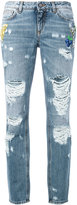 Dolce & Gabbana distressed boyfriend jeans - women - Cotton - 40