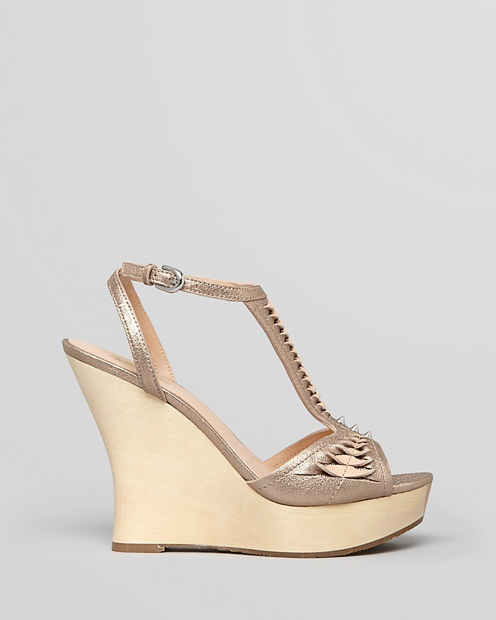 Belle by Sigerson Morrison Platform Wedge Sandals - Berry