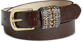 INC International Concepts Beaded Keeper Pant Belt, Only at Macy's