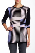 Vince Intarsia Stripe Wool Blend Pullover