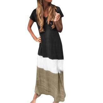 Celucke 2019 New Women's Plus Size Cotton Dress