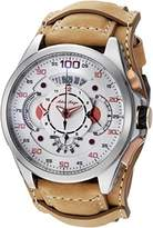 Adee Kaye Men's 'WHIRLLING COLLECTION' Quartz Stainless Steel and Leather Sport Watch