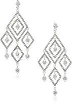 """Anne Klein Madison"""" Silver-Tone/Pearl/Crystal Chandelier Drop Earrings"""