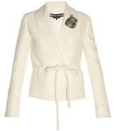Rochas Tie-waist tweed jacket
