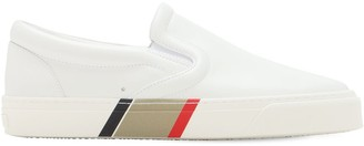 Burberry Thompson Leather Slip-On Sneakers