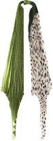 Haider Ackermann lurex & pois pleated scarf