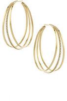 Lana Triple Link Hoop Earrings with Diamonds in 14K Gold