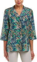 Lafayette 148 New York Fran Silk-Blend Blouse