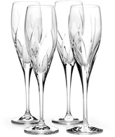 Mikasa Agena Set of 4 Crystal Champagne Flutes