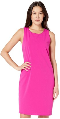 Vince Camuto Sleeveless Crepe Ponte Dress (Pink Shock) Women's Dress
