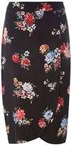 Dorothy Perkins Black Bloom Floral Midi Skirt