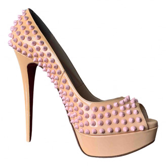 Christian Louboutin Lady Peep Pink Patent leather Heels