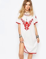 Gat Rimon Lorna Embroidered Dress in White