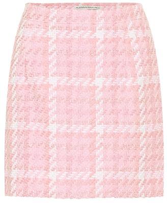 Alessandra Rich Checked tweed miniskirt