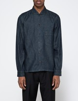 Lemaire Spread Collar Shirt in Indigo