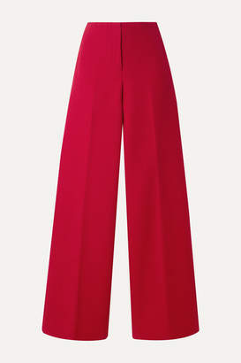 Theory Cotton-twill Wide-leg Pants - Red