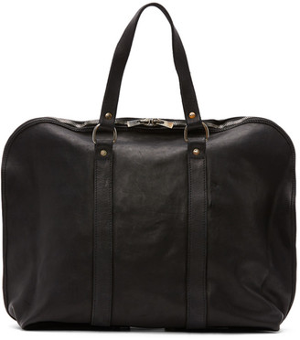 Guidi Black Small Expandable Weekender Bag