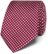 Canali 8cm Polka-dot Silk-jacquard Tie - Red