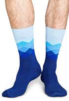 Happy Socks NEW SMU Exclusive Faded Diamond Blue