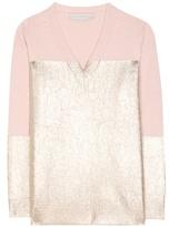Stella McCartney Metallic Cashmere And Wool Sweater