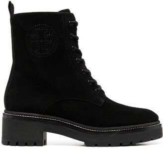 Tory Burch Lace-Up Leather Boots