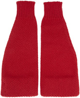 Raf Simons Red Americano Arm Warmers