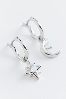 Urban Outfitters Opalescent Mini Celestial Charm Hoop Earring