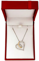 Lord & Taylor 14K Yellow Gold and Silvertone Heart Pendant Necklace